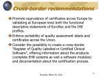 cross border recommendations