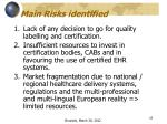 main risks identified