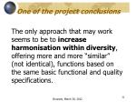 one of the project conclusions