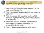 some ehr quality issues