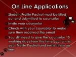 on line applications