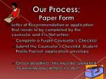 our process paper form