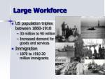 large workforce