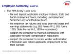 employer authority cont d