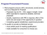 program procurement process
