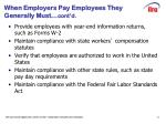 when employers pay employees they generally must cont d
