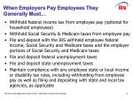 when employers pay employees they generally must