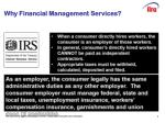 why financial management services