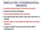 simulated congressional hearing
