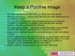 keep a positive image