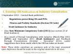 1 existing cbi publications industry consultation