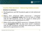 3 a key policy questions outsourcing solution contd2