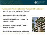 framework act regulations standards guidance