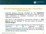 new pcf appointments on or after 1 december 2011 contd