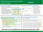 ngds projects overview for aasg march 14 2012