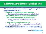 electronic administrative supplements