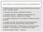 historical background to jeremiah