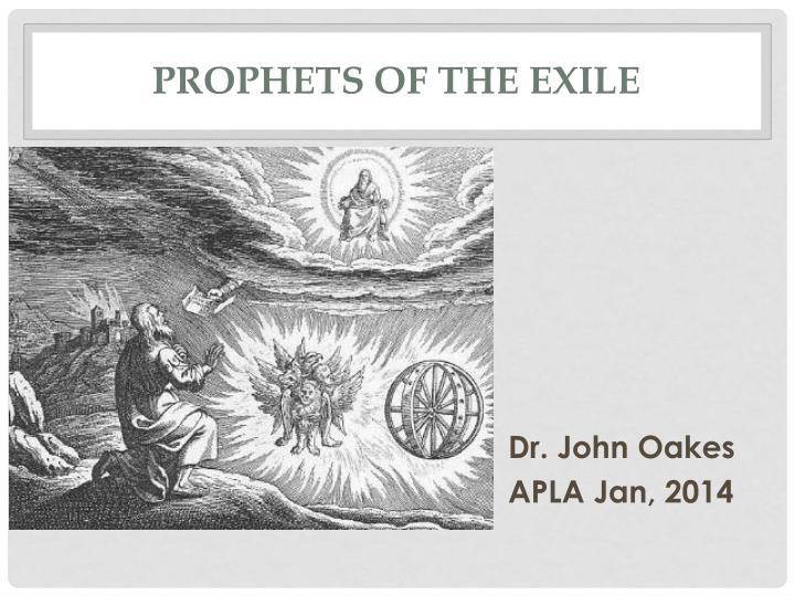 prophets of the exile n.
