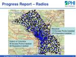 progress report radios