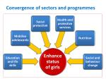 convergence of sectors and programmes