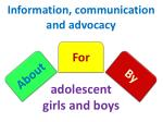 information communication and advocacy