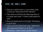 tens or ones game