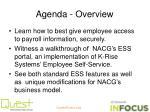 agenda overview
