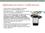applications for clients mobile devices