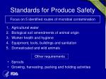 standards for produce safety