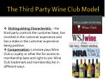 the third party wine club model