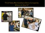 third party merchandisers demo companies where do they fit