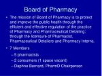 board of pharmacy