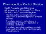pharmaceutical control division