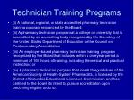 technician training programs