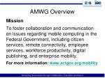 amwg overview
