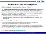 current activities for engagement