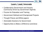 learn lead innovate