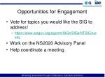 opportunities for engagement