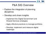 p a sig overview