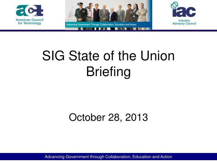 sig state of the union briefing n.