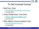 to get involved contact