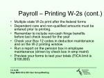 payroll printing w 2s cont