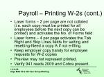 payroll printing w 2s cont1