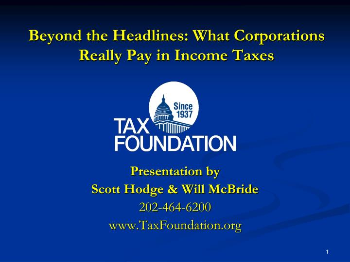 beyond the headlines what corporations really pay in income taxes n.