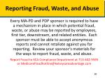 reporting fraud waste and abuse1