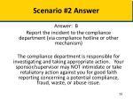 scenario 2 answer