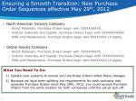 ensuring a smooth transition new purchase order sequences effective may 29 th 2012
