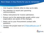 next steps 6 key points for you to remember