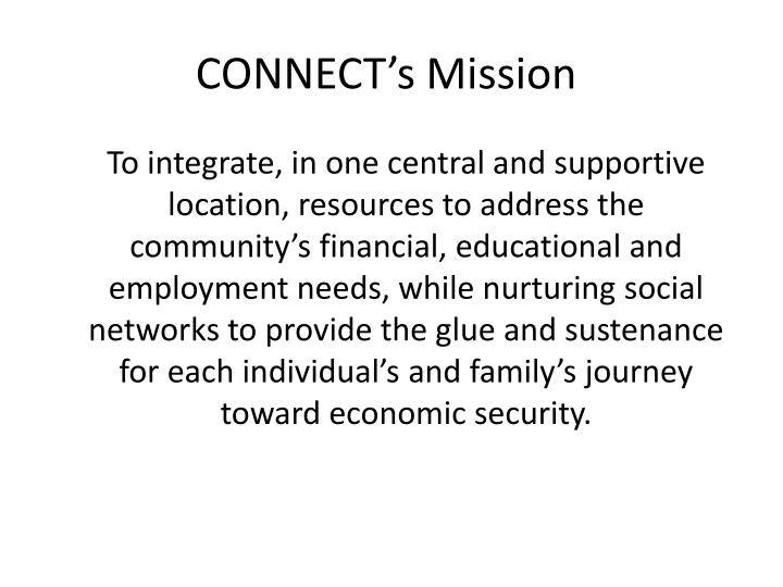 CONNECT's Mission