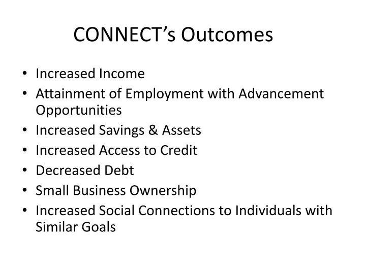 CONNECT's Outcomes